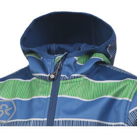 Color Kids Tadimir AOP Veste Softshell Enfant, jeans blue